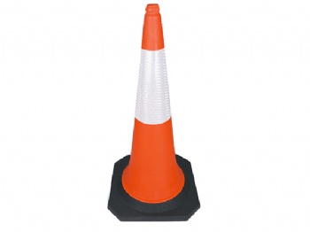 PE traffic cone with collar