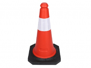 PE traffic cone with reflective striping