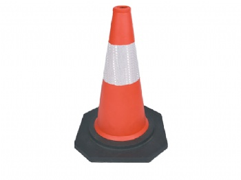 EVA traffic cone with reflective band